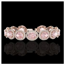 5.50 ctw Amethyst & VS/SI Diamond Halo Earrings 14K Rose Gold