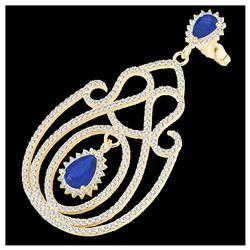 4.12 ctw Canary Citrine & Diamond Ring 14K Rose Gold