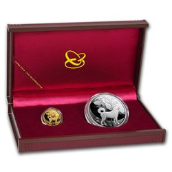 2018 China 2-Coin Year of the Dog Proof Set (w/Box & COA)
