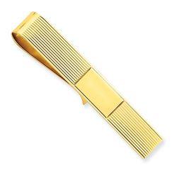 14k Solid Gold Tie Bar/Money Clip