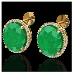21.83 ctw Emerald & Diamond Bracelet 14K White Gold