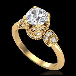 4.50 ctw Emerald & VS/SI Diamond Necklace 18K White Gold