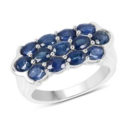 14K Yellow Gold Plated 1.04 ctw Genuine Tanzanite .925 Sterling Silver Ring