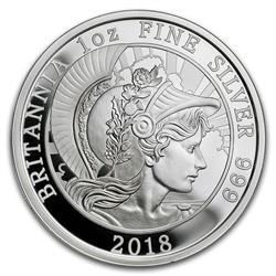 2018 Great Britain 1 oz Proof Silver Britannia (Coin Only)