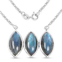 12.82 ctw Genuine Swiss Blue Topaz .925 Sterling Silver Earrings