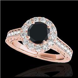 1.25 ctw VS Black Diamond Solitaire Ring 10K White Gold