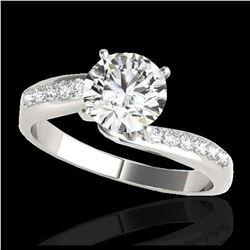 1.75 ctw SI Fancy Blue Diamond Halo Ring 10K White Gold