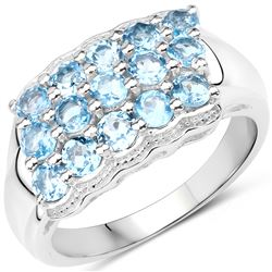 1.56 ctw Genuine Multi Stone .925 Sterling Silver Ring