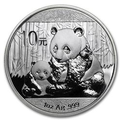 2012 China 1 oz Silver Panda BU (In Capsule)