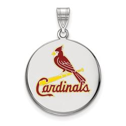 Sterling Silver MLB St. Louis Cardinals Disc Pendant