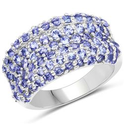 2.35 ctw Genuine Tanzanite .925 Sterling Silver Ring