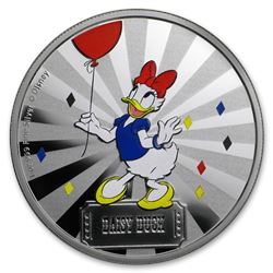 2019 1 oz Silver $2 Disney Carnival Collection: Daisy Duck
