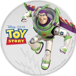 2018 Niue 1 oz Silver $2 Disney Pixar Toy Story: Buzz Lightyear