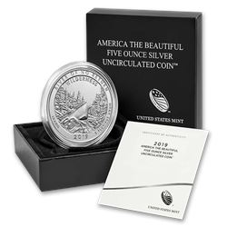 2019-P Silver ATB Frank Church River\, ID (w/Box & COA)
