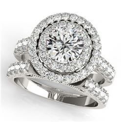 29.73 ctw Turquoise & Diamond Halo Necklace 10K Rose Gold