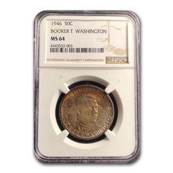 1946 Booker T. Washington Half Dollar MS-64 NGC