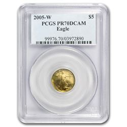 2005-W 1/10 oz Proof Gold American Eagle PR-70 PCGS