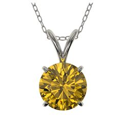 14.10 ctw Blue Sapphire & Diamond Ring 14K White Gold