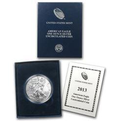 2013-W Burnished Silver American Eagle (w/Box & COA)