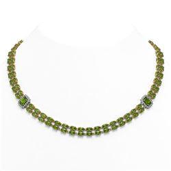 4.67 ctw Ruby & Diamond Necklace 14K Yellow Gold
