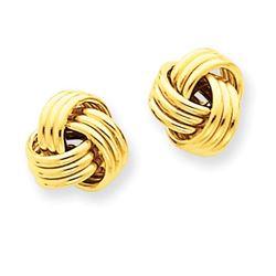 14k Polished Triple Knot Post Earrings