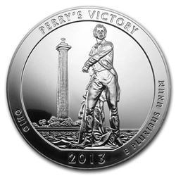 2013 5 oz Silver ATB Perry's Victory and Peace Park\, OH