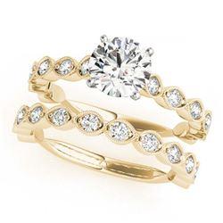 3.82 ctw Aquamarine & Diamond Necklace 14K Yellow Gold