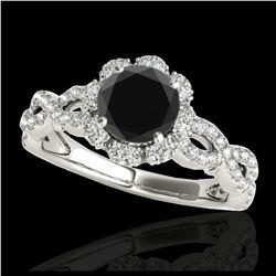 1.14 ctw VS/SI Diamond Art Deco Ring 18K Yellow Gold