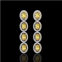 1.54 ctw Intense Yellow Diamond Stud Earrings 10K Yellow Gold