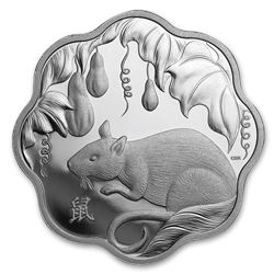 2020 Canada Silver $15 Lunar Lotus Year of the Rat Proof