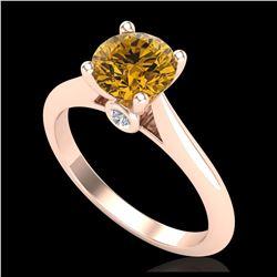 3.84 ctw Cushion Diamond Earrings 18K Yellow Gold