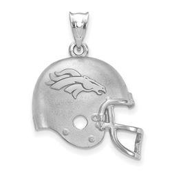 Sterling Silver Denver Broncos Football Helmet with Logo Pendant
