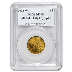 2002-W Gold $5 Commem Olympic Winter Games MS-69 PCGS
