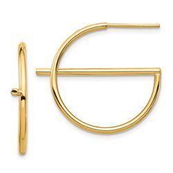 14k Split Circle Post Earrings - 30 mm