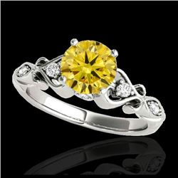 2 ctw Citrine & VS/SI Diamond Earrings Heart 14K Yellow Gold