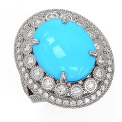 14.98 ctw Garnet & Diamond Bracelet 14K Rose Gold