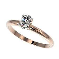 1.0 ctw VS Black & White Diamond Earrings 14K Rose Gold