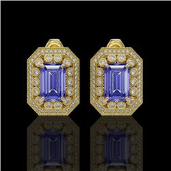 46.44 ctw Opal & Diamond Bracelet 14K Yellow Gold