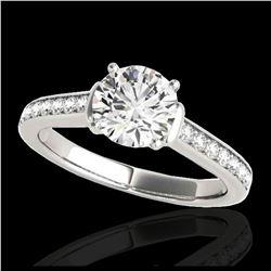 2.01 ctw SI Fancy Blue Diamond Halo Ring 10K Rose Gold