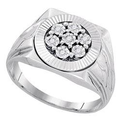 Sterling Silver Round Blue Color Enhanced Diamond Teardrop Pendant 1/10 Cttw