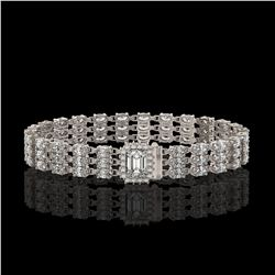 80.65 ctw Tourmaline & Diamond Halo Necklace 10K White Gold