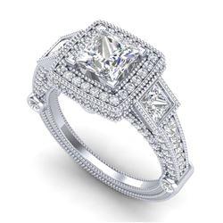 5 ctw SI/I Diamond Halo Bracelet 18K White Gold