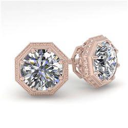 1 ctw VS/SI Cushion Cut Diamond Ring 18K Rose Gold