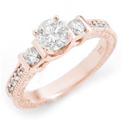 1.60 ctw VS/SI Diamond Solitaire Halo Necklace 14K White Gold