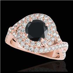 1.18 ctw SI/I Fancy Intense Yellow Diamond Ring 10K White Gold