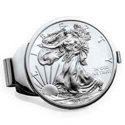 2019 1 oz Silver Eagle Money Clip