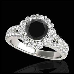 1.25 ctw SI Fancy Blue Diamond Halo Ring 10K Rose Gold