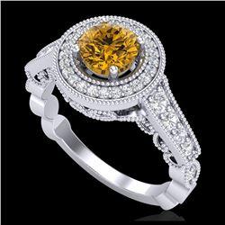 13.19 ctw Turquoise & Diamond Halo Bracelet 10K White Gold