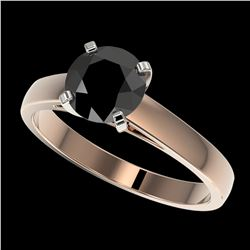 0.83 ctw Intense Fancy Yellow Diamond Art Deco Ring 18K Rose Gold
