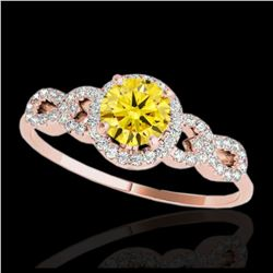 2 ctw Fancy Black Diamond Ring 18K Yellow Gold